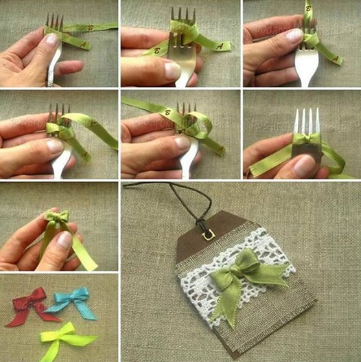 fork bow Wonderful DIY Making a Bow With a Fork