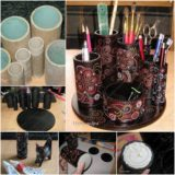 Wonderful DIY  Recycled Stationary Organizer