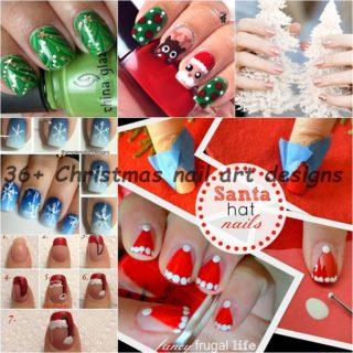 36 Wonderful  Christmas nail  art Designs