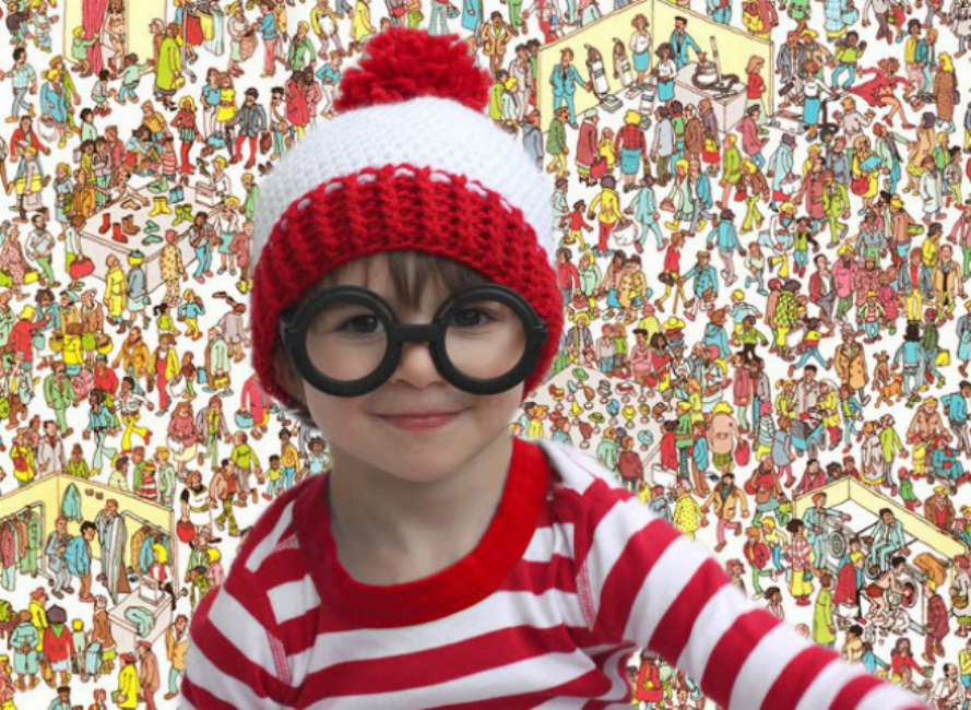 Where's Waldo Baby crochet hat