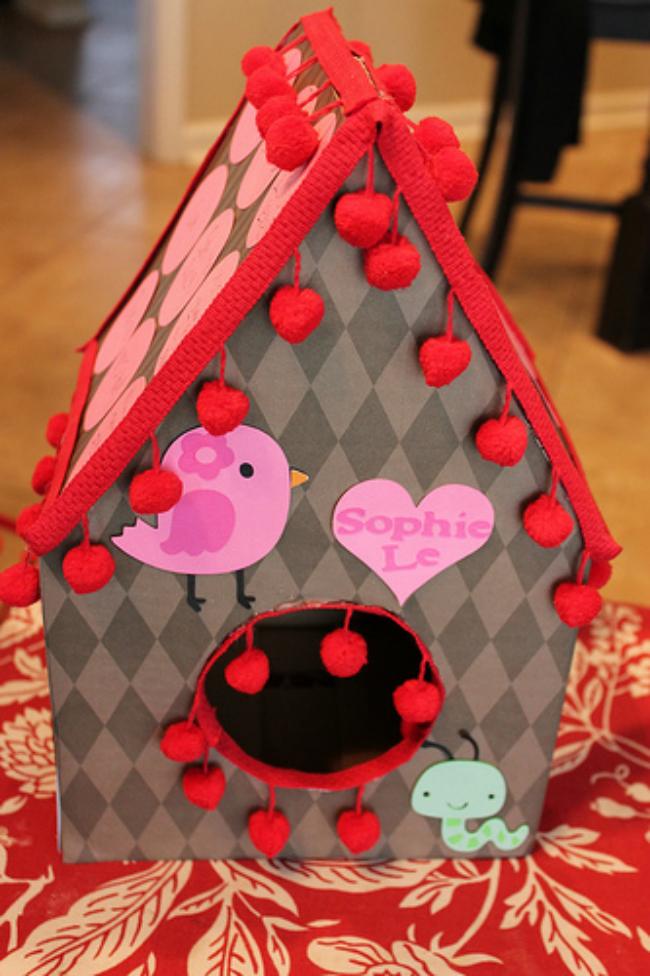 Birdhouse Valentine's Box