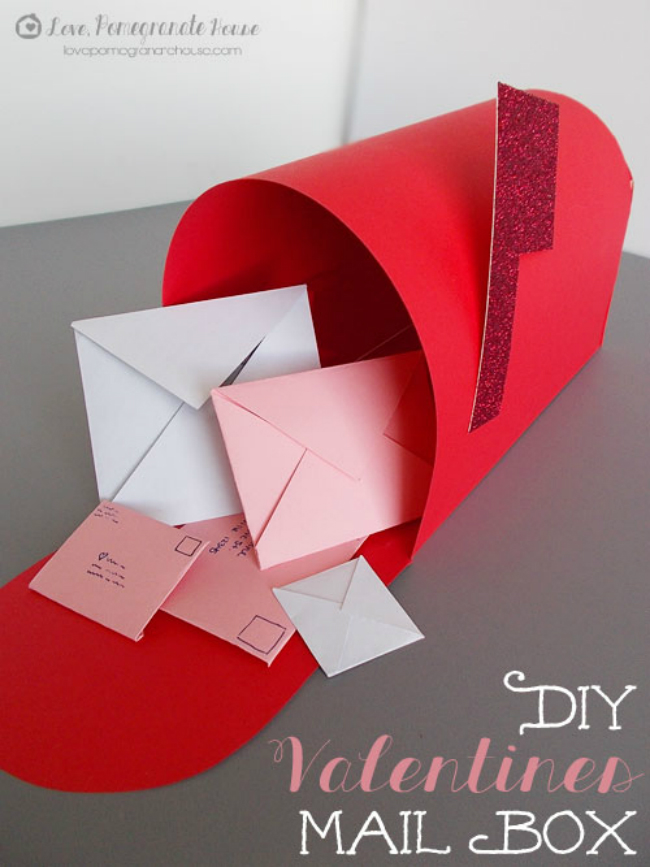 Red and Glitter Valentine's Box