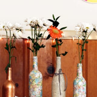 15 Ways to Upcycle Empty Wine Bottles