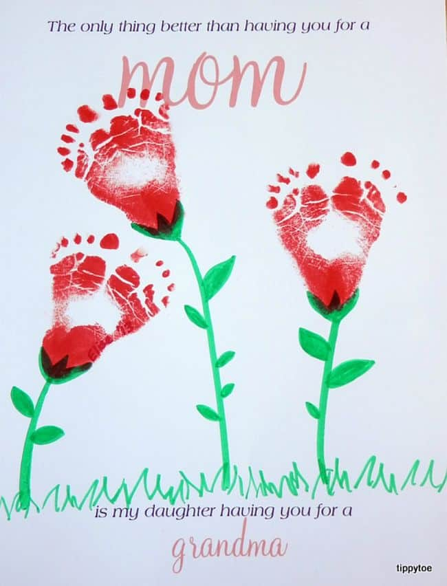 Mother's Day Footprint Card